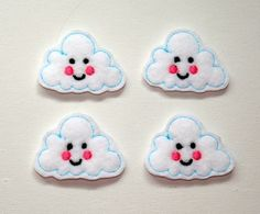 Hey, I found this really awesome Etsy listing at https://www.etsy.com/listing/130602215/happy-cloud-felt-applique-cloud