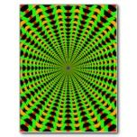 Warp Tunnel Post Card #gifts #psychedelic #abstract