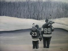La Kings in Black and White Painting  - La Kings in Black and White Fine Art Print