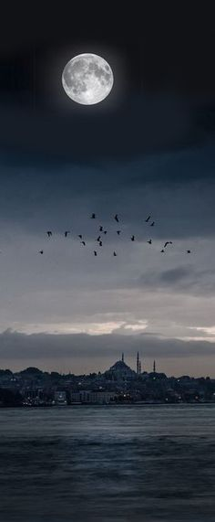 Full moon in Istanbul, Turkey                                                                                                                                                      More