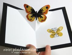 VIDEO: Diagonal Pop Up Card Tutorial with Stampin' Up! Watercolor Wings