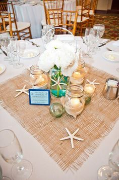 Beach wedding table runners seaside themed decor pinte love this table the decorations catamaran resort mission bay a photography by rachel mcfarlin junglespirit Gallery