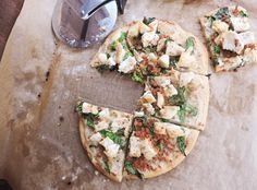 Just Jessie B: Chicken Bacon Pizza with Garlic Cream Sauce