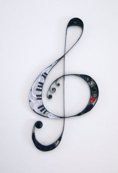 Quilled musical note with heart by allanamphotography on Etsy, £6.50