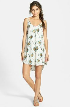Lush Floral Print High/Low Dress (Juniors) | Nordstrom