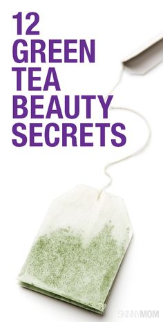 12 ways to improve your skin with green tea - already obsessed with drinking it, so this should be fun!