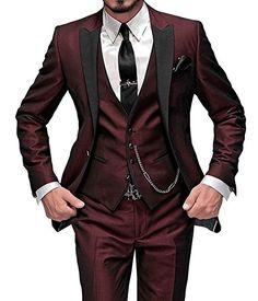 f89731a8498f GEORGE BRIDE Herren Anzug 5-Teilig Anzug Sakko,Weste,Anzug Hose,Krawatte