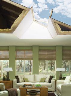 Introducing skylight roof windows & tubular skylights from Velux. A skylight known for smart design & outstanding value. Skylight Design, Skylight Window, Roof Window, Window Design, Arched Windows, Windows And Doors, House Canopy Design, Residential Skylights, Skylight