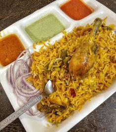 Rainkitchen: Chicken biryani//how to make street style chicken . Street Chicken, Desi Ghee, Green Chutney, Food Pictures, Food Pics, Biryani Recipe, Garam Masala, Recipe Cards, Street Food