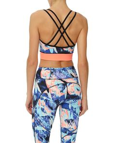 Flawless fit, a statement print, crossover back and lightweight support combine…