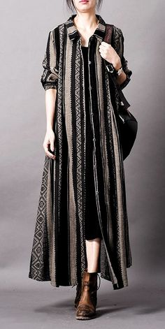 Vintage Loose Striped Loose Long Coat Women Casual Outfits - Vintage Loose Striped Loose Long Coat Women Casual Outfits Source by nehirzerkin - # Outfits for teens Indian Fashion Dresses, Indian Designer Outfits, Hijab Fashion, Designer Dresses, Fashion Outfits, Boujee Outfits, Womens Fashion, Cheap Outfits, Pakistani Fashion Casual