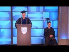 Ellen Hosts Justin Bieber's Graduation