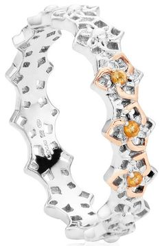 Clogau Ring Eternal Daffodil Stacking Silver | C W Sellors Fine Jewellery and Luxury Watches