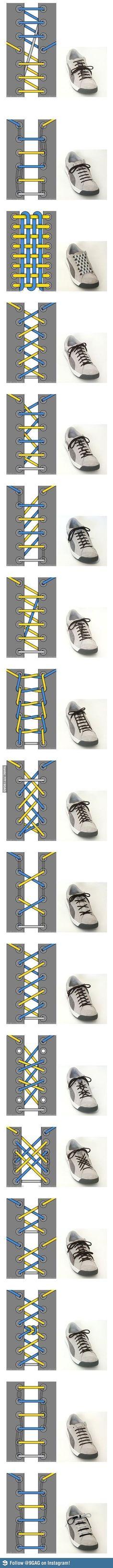 Unique ways to lace shoes