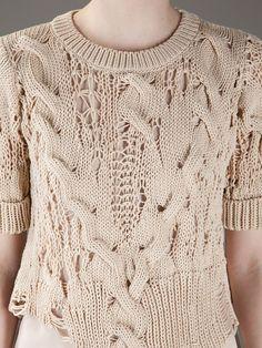 Summer Knitting, Knitting Wool, Hand Knitting, Knitwear Fashion, Knit Fashion, Crochet Designs, Knitting Designs, How To Purl Knit, Fashion Moda