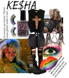 """Ke$ha Concert"" by boomerwashere ❤ liked on Polyvore"
