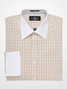 Taupe Grid Dress Shirt #menswear #mensfashion #style #SteveHarvey #plaid…