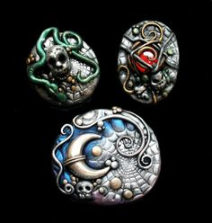 Halloween Polymer Clay Jewelry by *MandarinMoon