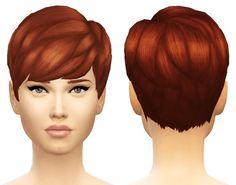 Sim4ny: Straight Bangs hair converted • Sims 4 Downloads