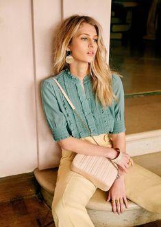 Sezane Norah Shirt Sage green size M Style Bobo Chic, Sporty Style, My Style, Sporty Chic, Sporty Outfits, Chic Outfits, Fashion Outfits, Modesty Fashion, Sporty Fashion