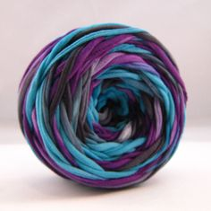 Hand+Dyed+T+shirt+yarn+55+yards++Bruise+by+Chennapenna+on+Etsy,+$6.75