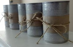 Soup can candle holders