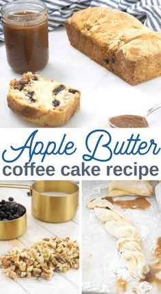 coffee cake with apple butter and walnuts recipe Fall Breakfast, Breakfast Cake, Sweet Breakfast, Perfect Breakfast, Butter Coffee Cake Recipe, Recipe Using Apples, Homemade Apple Butter, Walnut Recipes, Dog Cakes