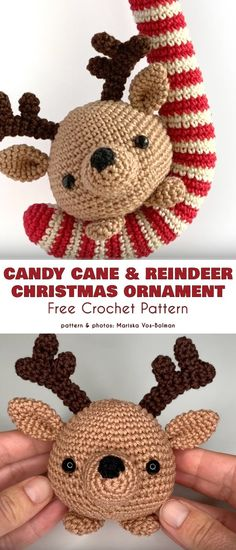Candy Cane Free Crochet Patterns (Your Crochet) Candy Cane Poem, Candy Cane Image, Candy Cane Reindeer, Candy Cane Ornament, Candy Cane Wreath, Reindeer Food, Candy Canes, Crochet Christmas Ornaments, Christmas Crochet Patterns