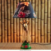 Vintage style hula lamp hula girl 26 floral shade with red vintage style hula lamp hula girl 26 floral shade with red fringe hula girl hula and desk lamp mozeypictures Images