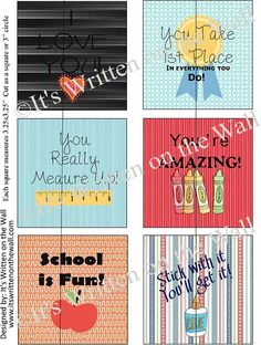 {Free Printable} Lunchbox Love Notes Have Arrived Just in Time for Back to School