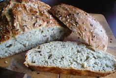 Recept Domácí chléb bez hnětení Banana Bread, Food And Drink, Cooking Recipes, Tasty, Desserts, Fit, Tailgate Desserts, Deserts, Postres