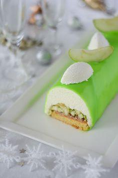 Bûche de Noël à la pomme verte