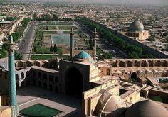 vue aérienne du maydan Iran, Ispahan, XVIIème siècle
