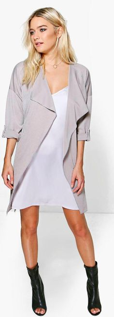 Lexi Waterfall Ruched Back Belted Duster - Coats & Jackets  - Street Style, Fashion Looks And Outfit Ideas For Spring And Summer 2017