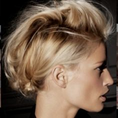 The Mohawk updo - trying for Imagine Dragons!