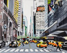 New York by Lesley Soldat At Dimensions Gallery Opening April Local Events, St Joseph, Custom Framing, Street View, New York, Yellow, Gallery, Blog, Art