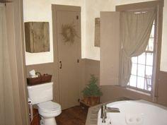 pintrest prim bathroom | our bathroom has a primitive and modern mix | Kitchen & Bath