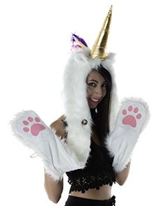 d4c0b74e194d7 Women's Outwear for Burning Man: furry white unicorn hood #burningman Furry  Leg Warmers,