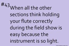 Flute Problems. Do you know how painful it actually is to hold a flute at a 90 degree angle without letting it drop?