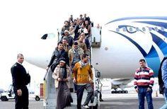 285 مصريًا يعودون من #ليبيا اليوم مع استمرار الجسر الجوي