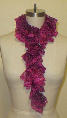 Pink Twinkle Sashay Scarf by CharlotteStitchedIt on Etsy, $7.00