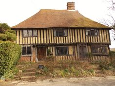 Beautiful Tudor house in Smallhythe, Kent, England, right next door to the church where Henry VIII would have prayed for the safety of his war ship The Mary Rose which was built here at Smallhythe before the sea receded. By B Lowe