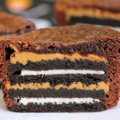 Oreo And Peanut Butter Brownie Cakes Recipe by Recipe Snobs