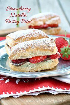 Strawberry Nutella Pastry Bites