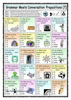 Grammar Meets Conversation: Prepositions (7) - Asking Questions