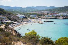 Ibiza Beach Club, Ibiza Town, San Antonio Bay, Ibiza Travel, Santorini Island, Sandy Beaches, Aerial View, Beautiful Beaches, Travel Guide