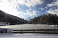 Winter am Riessersee - das erste Eis auf dem See - Winter in Garmisch-Partenkirchen, Bavaria - http://www.riessersee.com/