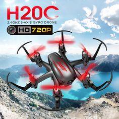 JJRC H20C 2.4G 4CH 6Axis Mini Drone RC Quadcopter 720P 2MP Camera One Key Return