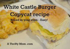 white castle burger recipe