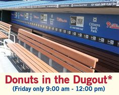Donuts in the dugout! Friday only*